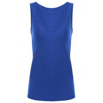 Y-strap Casual Tank Top - BLUE L