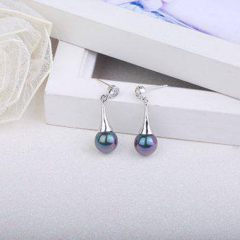Rhinestone Artificial Pearl Teardrop Earrings - COLORMIX