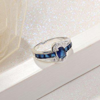 Artificial Sapphire Rhinestone Round Ring - BLUE 8