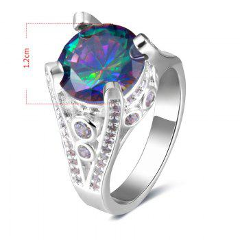 Artificial Gem Round Ring - 6 6