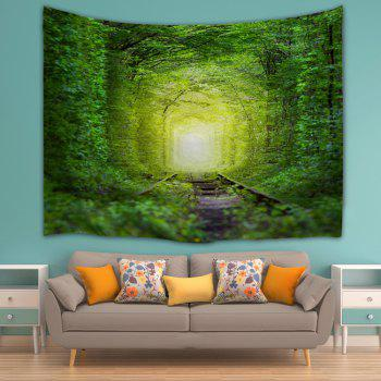 Fairy Forest Railway Wall Decoration Hanging Tapestry - GREEN W59 INCH * L59 INCH