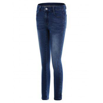 Pockets Fitted Pencil Jeans - L L