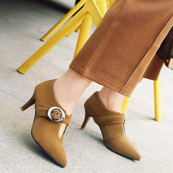 Buckle Strap Pointed Toe Pumps