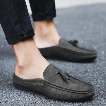 Tassels Stitching Faux Leather Casual Shoes