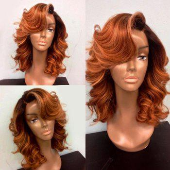 Deep Side Part Medium Body Wave Lace Front Synthetic Wig