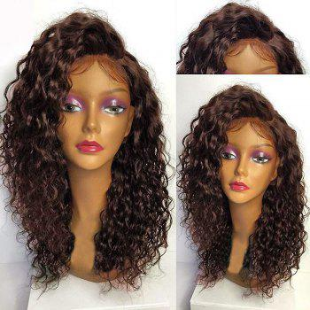 Deep Side Part Shaggy Curly Long Lace Front Synthetic Wig