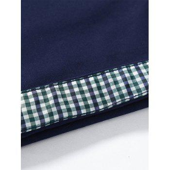 Back Pockets Zipper Fly Bermuda Shorts - Kaki 40