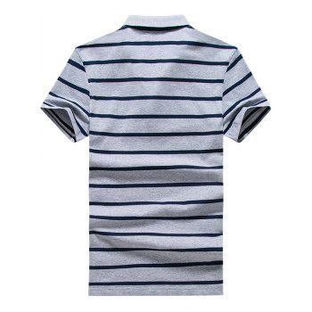 Striped Half Button Golf Shirt - 3XL 3XL