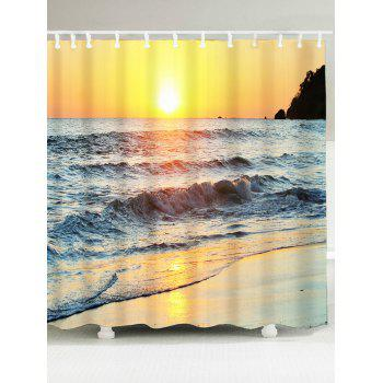 Waterproof Sunset Beach Scenic Shower Curtain