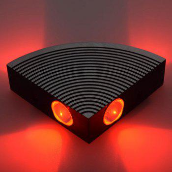 Home Decor Aluminum LED Sector Wall Lamp - RED RED