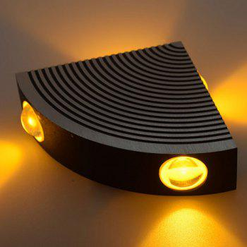 Home Decor Aluminum LED Sector Wall Lamp - YELLOW