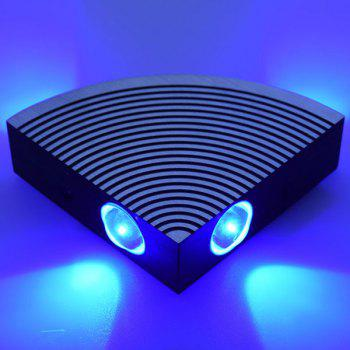 Home Decor Aluminum LED Sector Wall Lamp - BLUE BLUE