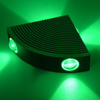 Home Decor Aluminum LED Sector Wall Lamp - GREEN GREEN