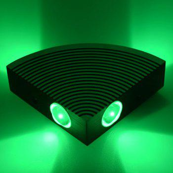 Home Decor Aluminum LED Sector Wall Lamp -  GREEN