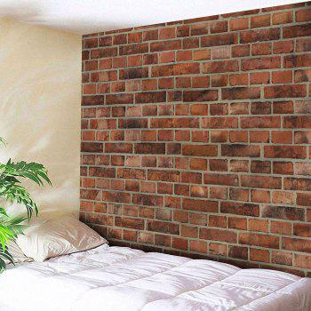 Microfiber Wall Hanging Brick Wall Pattern Tapestry