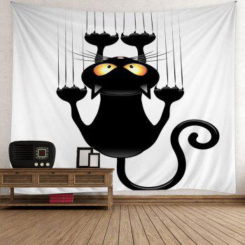 Halloween Black Cat Wall Art Tapestry