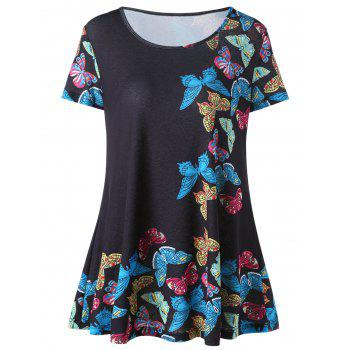 Butterfly Print Flowy Tunic Top
