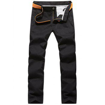 Zipper Fly Casual Slim Fit Pants