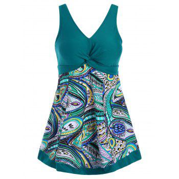 Padded Printed Plus Size Swimdress
