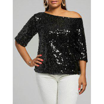 Plus Size Sequined Glitter T-shirt