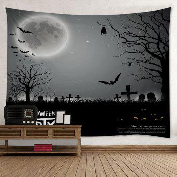 Wall Hanging Art Halloween Cemetery Print Tapestry