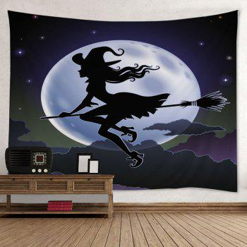 Wall Hanging Art Halloween Witch Print Tapestry