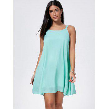 Bowknot Chiffon Mini Trapeze Dress - Vert clair S
