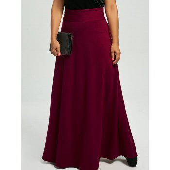 Plus Size High Waist Maxi Flare Skirts
