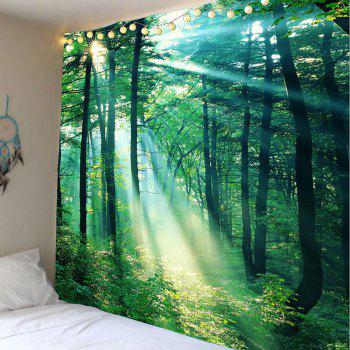 Sunlight Forest Wall Art Tapestry