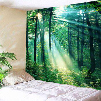 Sunlight Forest Wall Art Tapestry - GREEN W79 INCH * L59 INCH