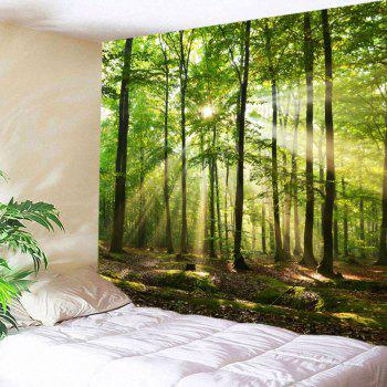 Forest Sunlight Decorative Wall Tapestry - GREEN W79 INCH * L59 INCH