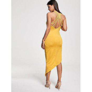 Robe de club asymétrique en croix Criss Cross Cutter Twist - Jaune S