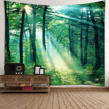 Sunlight Forest Wall Art Tapestry - GREEN W79 INCH * L79 INCH