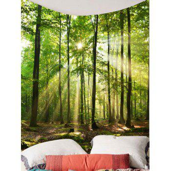 Forest Sunlight Decorative Wall Tapestry - GREEN W79 INCH * L79 INCH