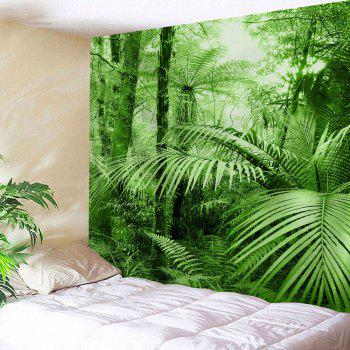 Tropical Plants Wall Decor Fabric Tapestry - GREEN GREEN