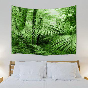 Tropical Plants Wall Decor Fabric Tapestry - GREEN W71 INCH * L91 INCH