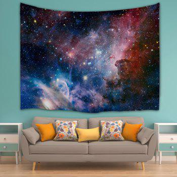 Wall Art Hanging Galaxy Print Tapestry - COLORMIX W71 INCH * L91 INCH
