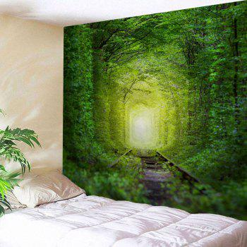 Fairy Forest Railway Wall Decoration Hanging Tapestry - GREEN GREEN