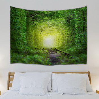 Fairy Forest Railway Wall Decoration Hanging Tapestry - GREEN W71 INCH * L91 INCH