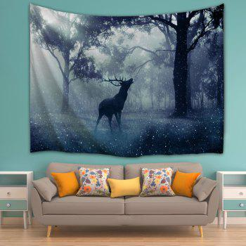 Mist Forest Deer Wall Hanging Tapestry - W71 INCH * L91 INCH W71 INCH * L91 INCH