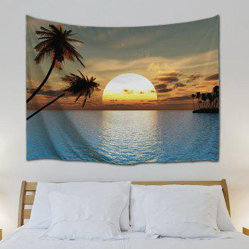 Home Decor Wall Art Sea Sunset Tapestry - COLORMIX W71 INCH * L91 INCH