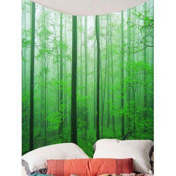Home Decor Forest Tree Wall Hanging Tapestry - GREEN W79 INCH * L71 INCH