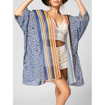 Tribal Print Chiffon Beach Cover Up - COLORMIX COLORMIX