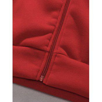 Rib Panel Hooded Zip Up Fleece Waistcoat - ROYAL ROYAL