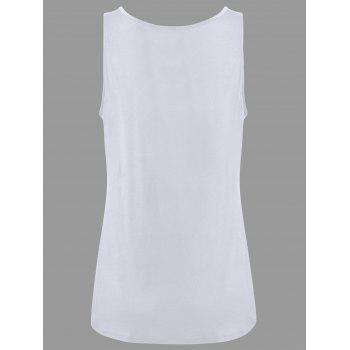 Y-strap Casual Tank Top - WHITE S