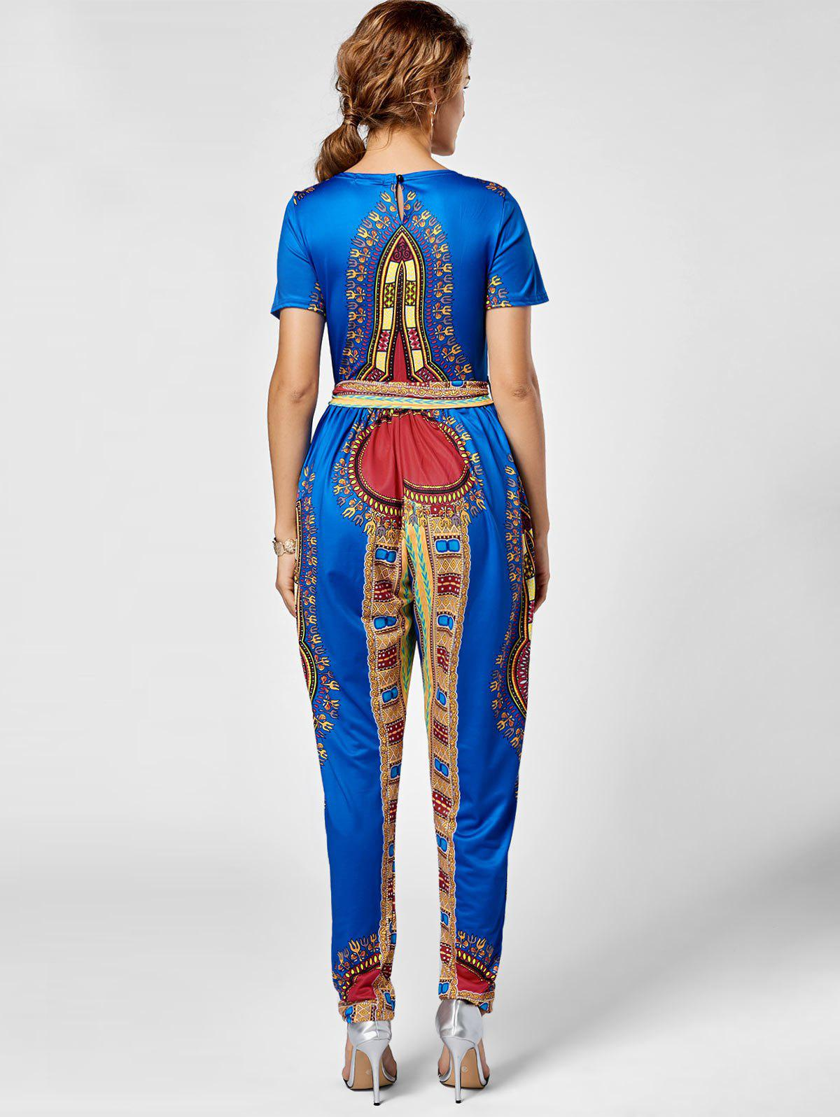 Tribe Print Combinaison Belted - Royal S