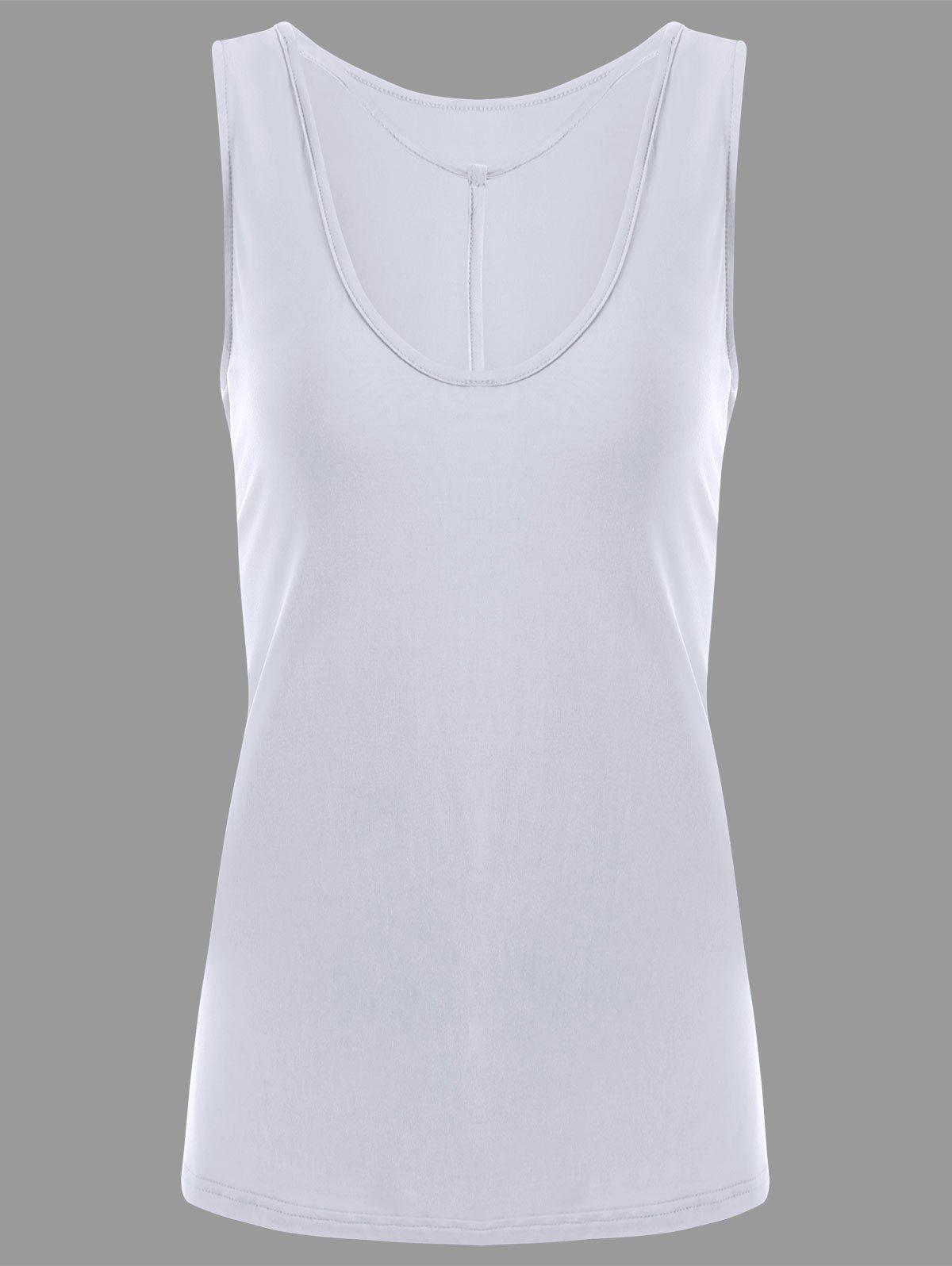Y-strap Casual Tank Top - WHITE 2XL