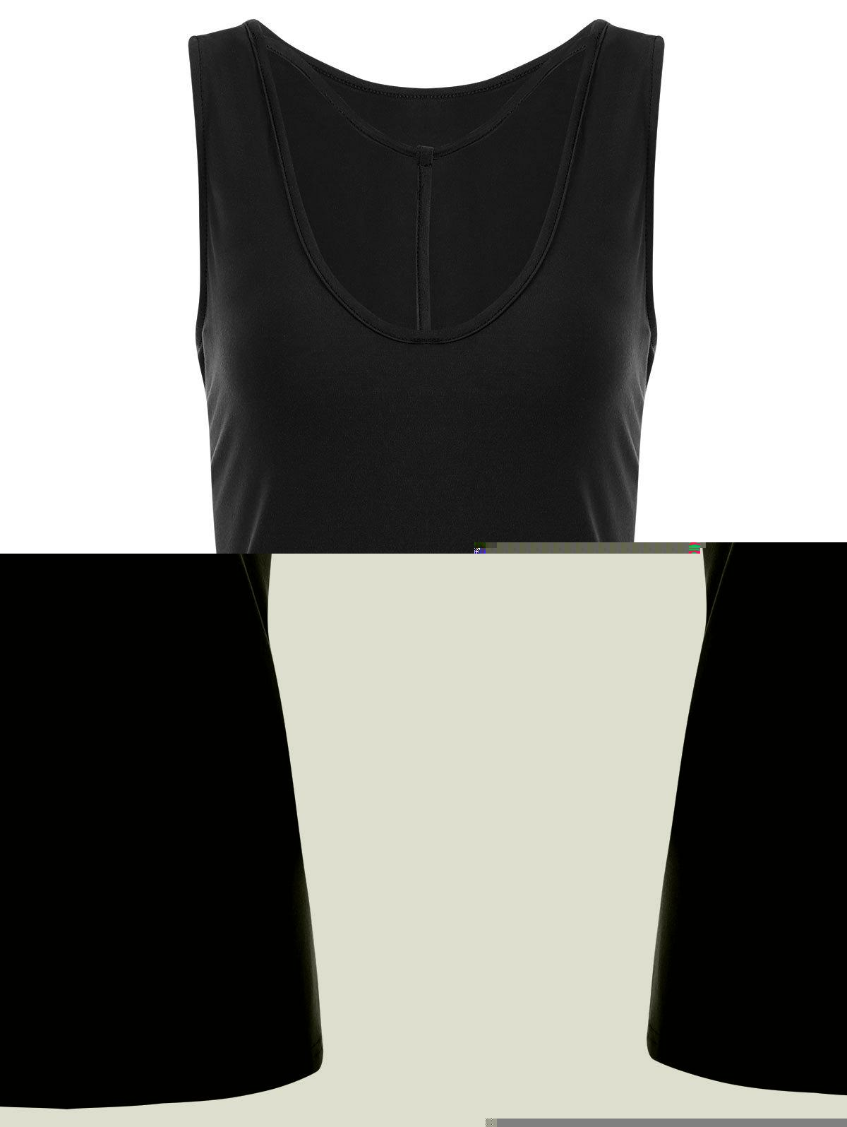 Y-strap Casual Tank Top - BLACK 2XL