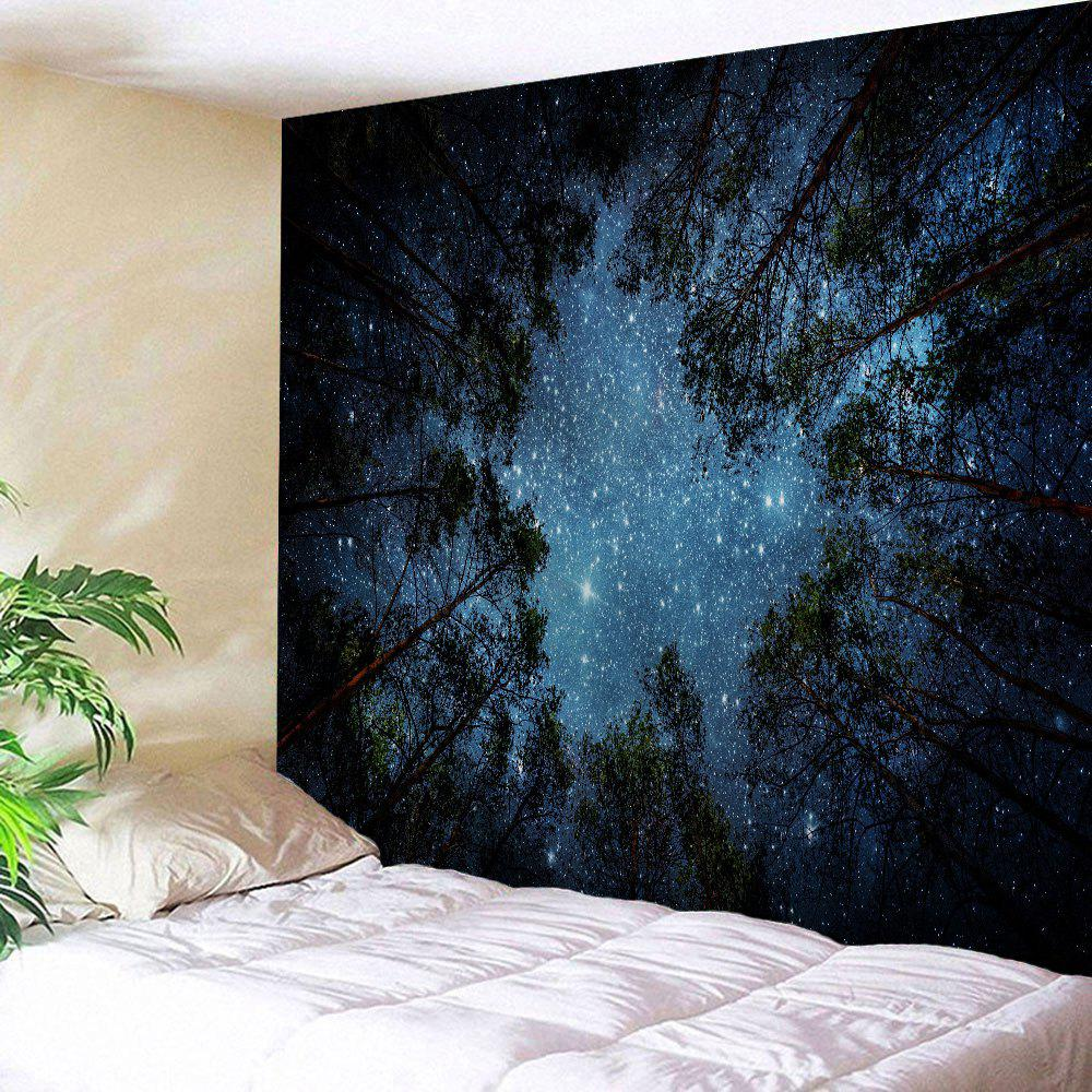 Night Sky Printed Wall Hanging Tapestry - MIDNIGHT W71 INCH * L91 INCH