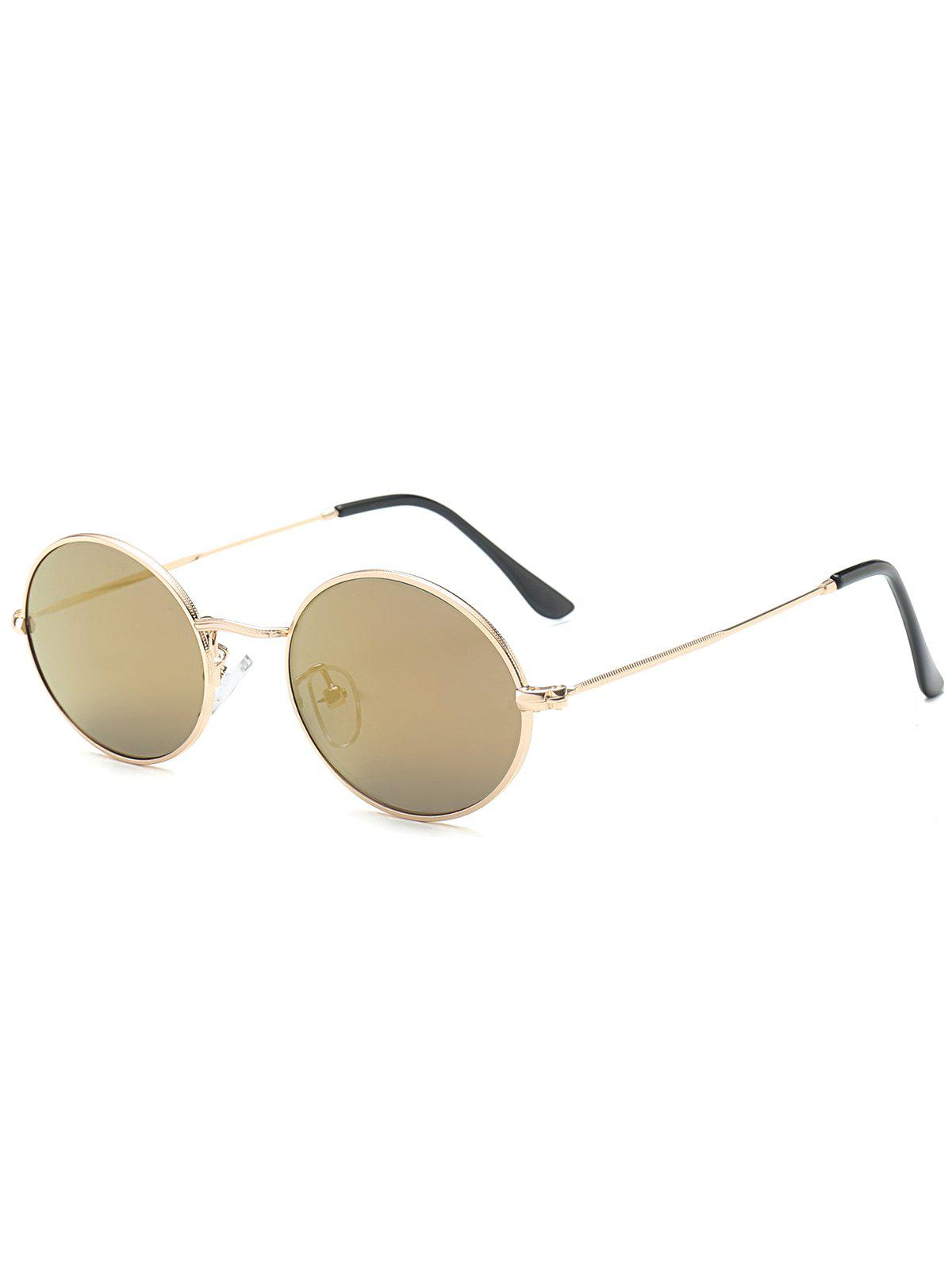 Oval Anti UV Sunglasses - LUXURY GOLD COLOR